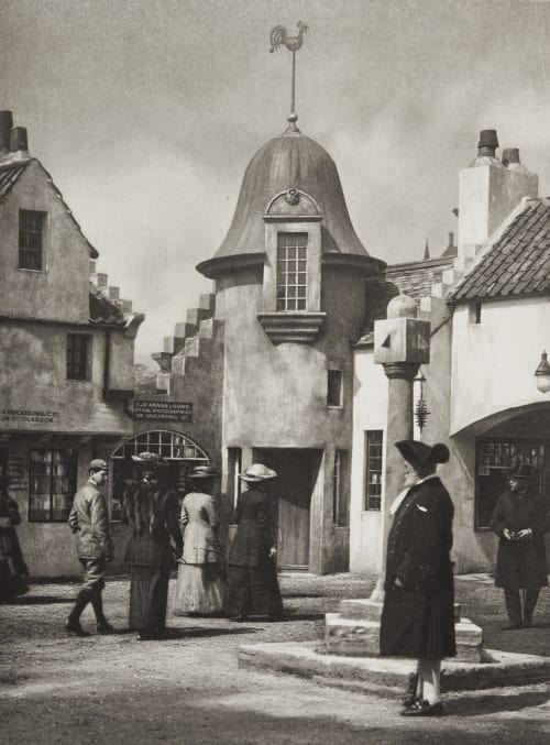 The Mercat Cross and Town Crier in the Old Scottish Street Annan, James Craig  (Scottish, 1864-1946)