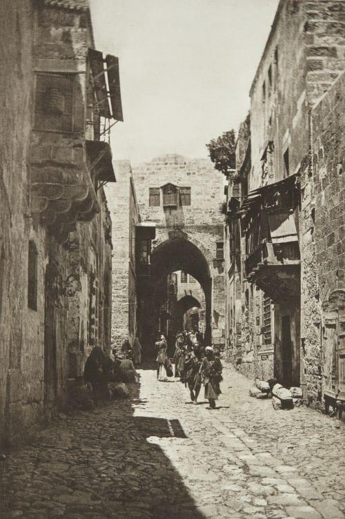 David Street, Jerusalem Shadbolt, Cecil  (British, 1859–1892)