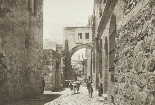 The Ecce Homo Arch in the Via Dolorosa Shadbolt, Cecil  (British, 1859–1892)