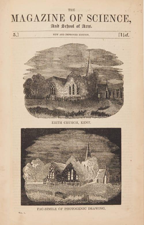Facsimiles of Photogenic Drawing, Eirth Church, Kent G.F.