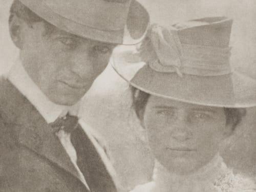 Self-Portrait with Sister, Milwaukee Steichen, Edward  (American, 1879-1973)