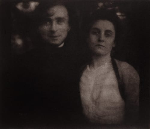 Steichen and Wife Clara on Their Honeymoon, Lake George, New York Steichen, Edward  (American, 1879-1973)
