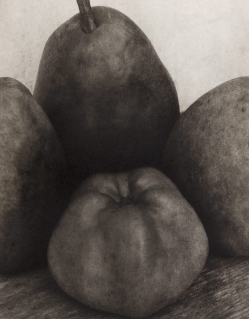 Three Pears and and Apple Steichen, Edward  (American, 1879-1973)