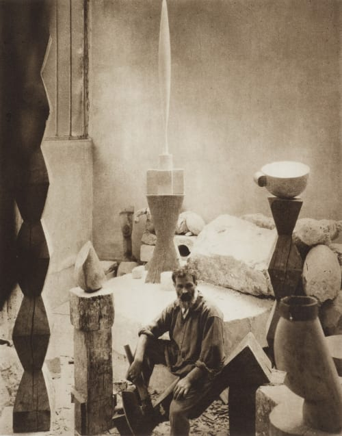 Brancusi in His Studio, Paris Steichen, Edward  (American, 1879-1973)
