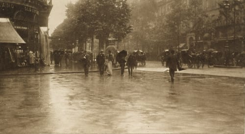 A Wet Day on the Boulevard Stieglitz, Alfred  (American, 1864-1946)