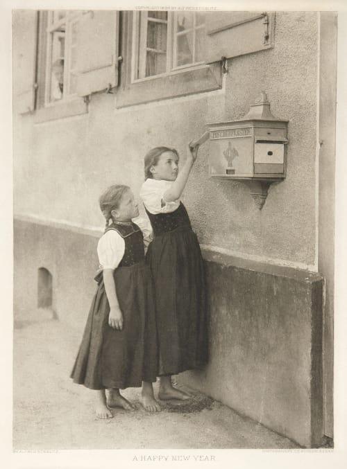 A Happy New Year Stieglitz, Alfred  (American, 1864-1946)