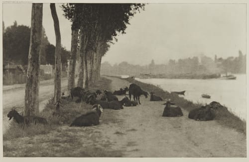 On the Seine – Near Paris Stieglitz, Alfred  (American, 1864-1946)