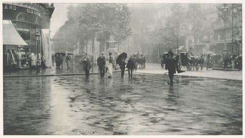 Wet Day on the Boulevard Stieglitz, Alfred  (American, 1864-1946)