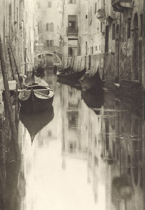 A Venetian Canal Stieglitz, Alfred  (American, 1864-1946)