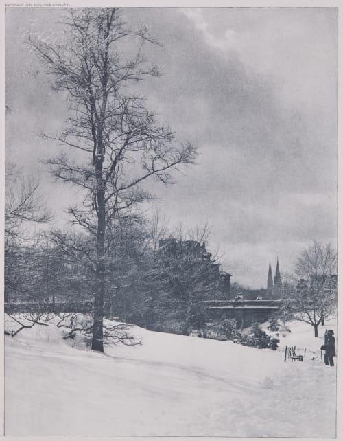 A Winter Sky – Central park Stieglitz, Alfred  (American, 1864-1946)