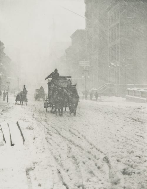 Winter Fifth Avenue Stieglitz, Alfred  (American, 1864-1946)