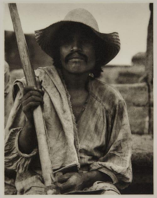 Man with Hoe – Los Remedios Strand, Paul  (American, 1890-1976)