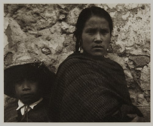 Young Woman and Boy – Toluca Strand, Paul  (American, 1890-1976)
