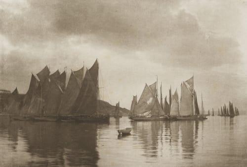 Brixham Trawlers Gale, Joseph Colonel  (British, 1835-1906)