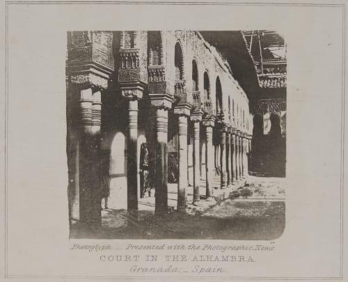 Court in the Alhambra Talbot, William Henry Fox  (English, b.1800)