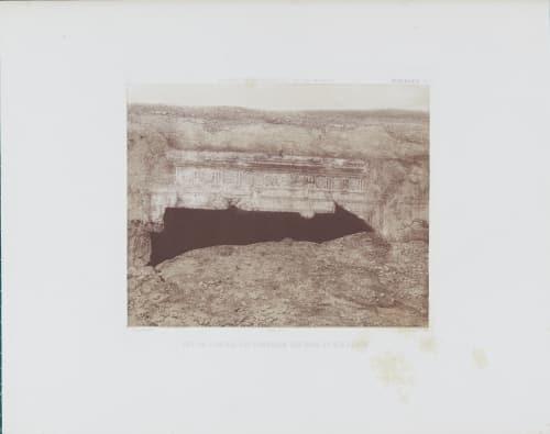 Jerusalem pl. 7  Vue de L'entrée des Tombeaux des Rois et des Juges Tremaux, Pierre  (French, 1818-1895)