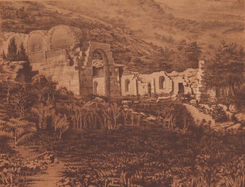 Pl. 61 Vue des Restes du Nimphé des Zaghouan Tremaux, Pierre  (French, 1818-1895)
