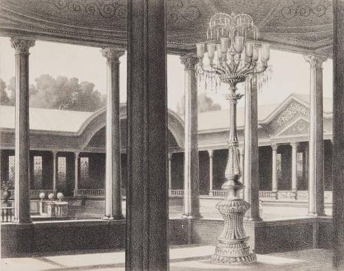 Pl. 12 Vue Intérieure de Kiosque Tremaux, Pierre  (French, 1818-1895)