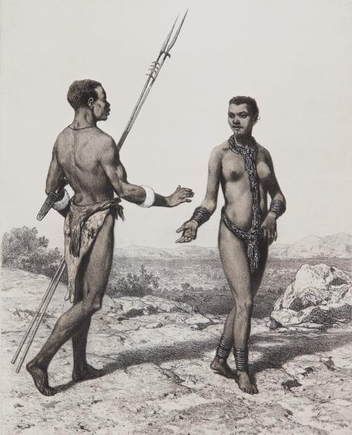 Pl. 25 Nègre et Négresse du Bertha Tremaux, Pierre  (French, 1818-1895)