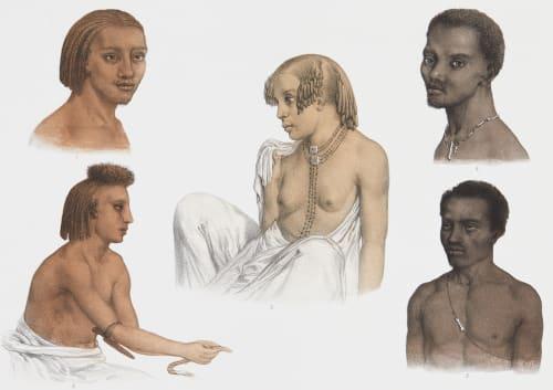 Pl. 29 Types de Figures de Diverses Contrées Tremaux, Pierre  (French, 1818-1895)