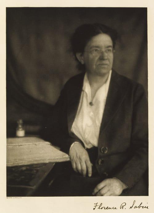 Florence Rena Sabin Ulmann, Doris  (American, 1882-1934)