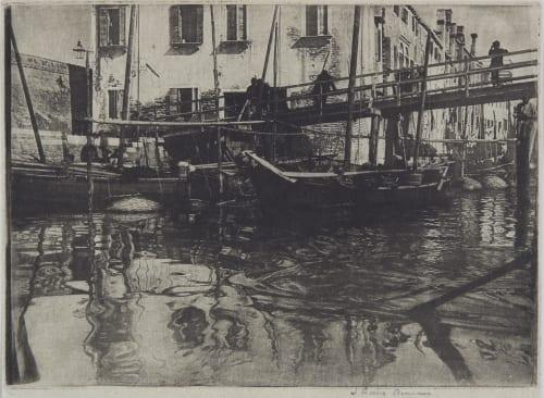 A Black Canal Annan, James Craig  (Scottish, 1864-1946)