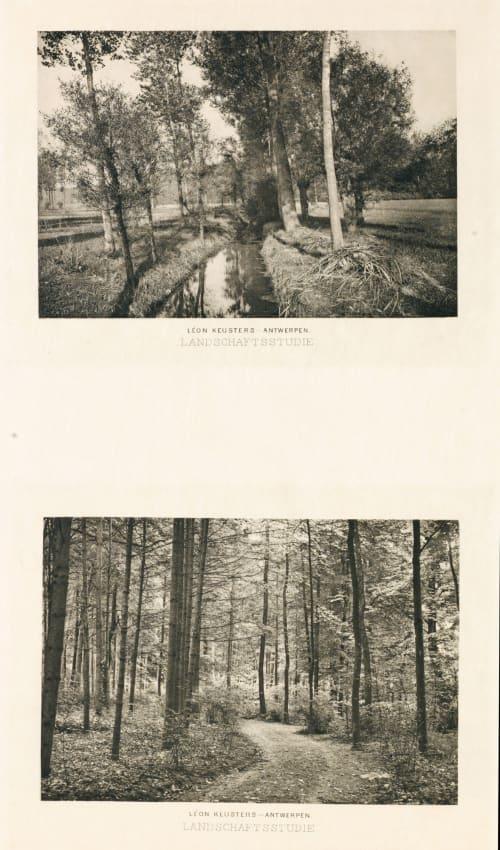 Diptych: Landschaftsstudie & Landschaftsstudie Keusters, Léon  (Belgian, 1858-1942)