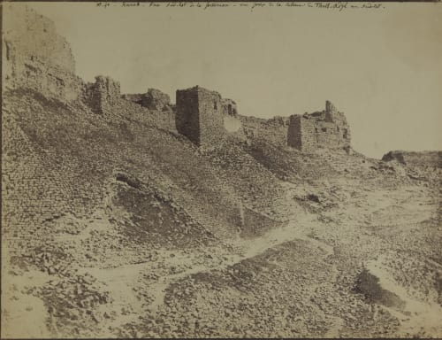 Karak. Face Sud est de la Forteressa Sauvaire, Henri  (French, 1831-1896)