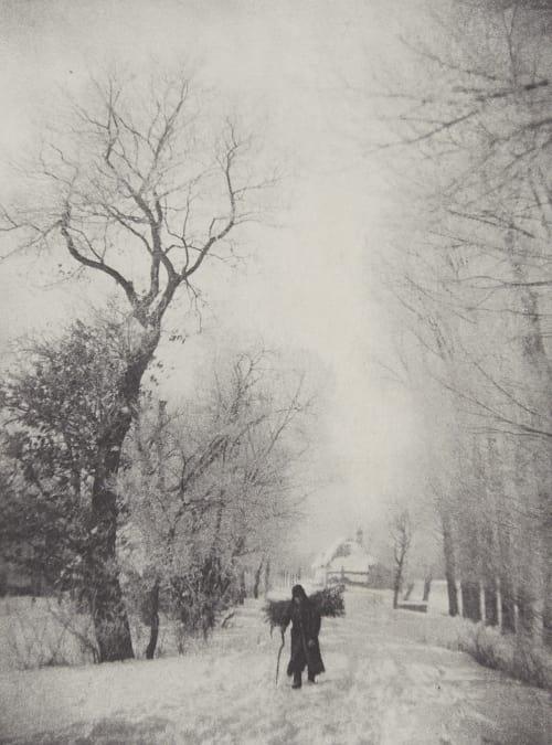 Holzsammler im Schnee Strakosch, Julius   (Austrian, 1852-1901)