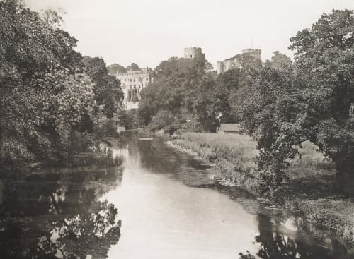 Warwick Castle From the Brook Williams, James Leon  (American, 1852-1932)