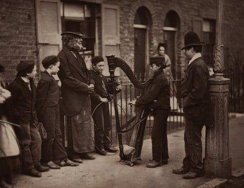 Italian Street Musicians Thomson, John  (British, 1837-1921)