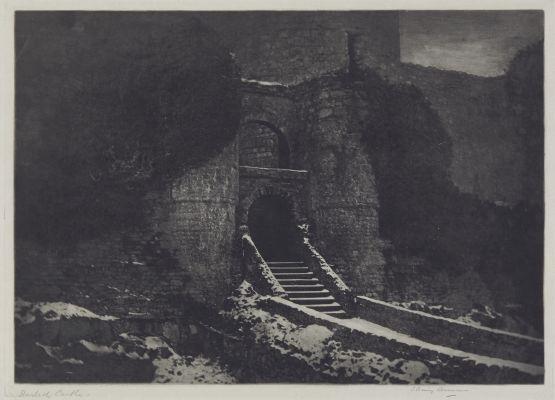 Harlech Castle, Wales (alt. A Ruined Castle)