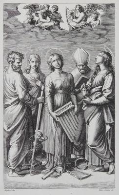 Ste Cécile d'apres Raphael