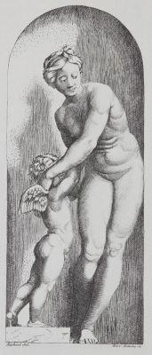 Vénus e l'Amour d'apres Raphael