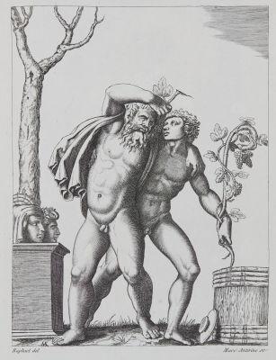 Le Jeune et le Vieux Bacchant d'apres Raphael