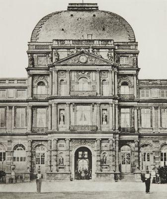 Ext. 100 Tuileries: Avant l'incendie par la Commune.