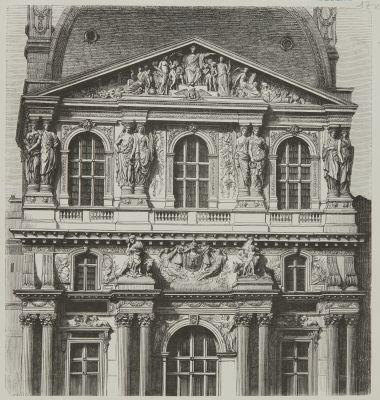 Pavilion central nord de la cour Napoléon III