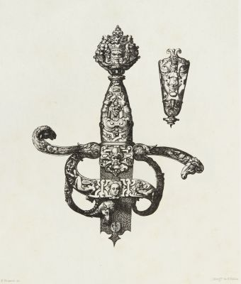 Design for a Sword Handle by P. Woeiriot