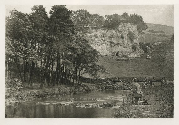 Plate LIV Wolfscote Bridge and Franklyn Rock, Beresford Dale