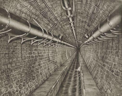 Planche 16 Vue perspective de la galerie de la rue de Rivoli