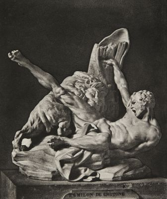 """Milon de Crotone"", sculpture by Etienne Maurice Falconet"