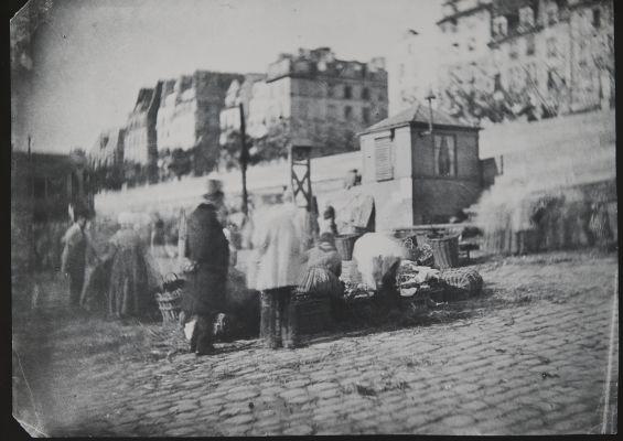 Scène de Marché au Port de l'Hôtel de Ville, Pariss