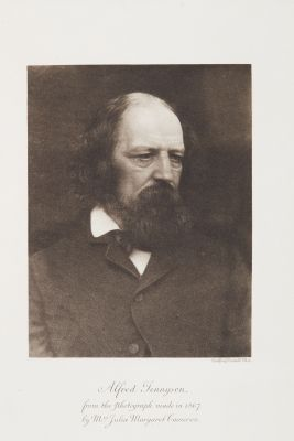 Alfred Tennyson from the photograph made of 1867 by Mrs. Julia Margaret Cameron