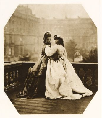 Two Women on a Balcony