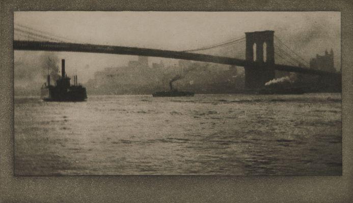 Brooklyn Bridge From River