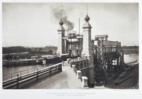 Schiffshebewerk bei henrichenburg. Ansicht vom oberhaupt.