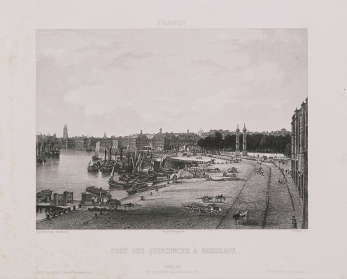 France. Port des Quinconces à Bordeaux