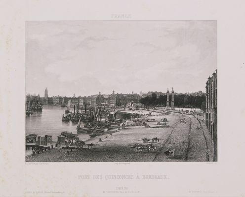 France. Port des Quinconces à Bordeaux