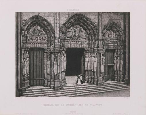France. Portail de la cathédrale de Chartres