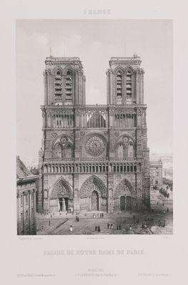 France. Façade de Notre-Dame de Paris